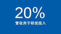 20% 营收用于研发投入